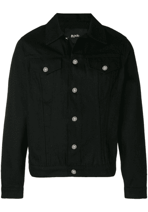 Blood Brother logo embroidered shirt jacket - Black