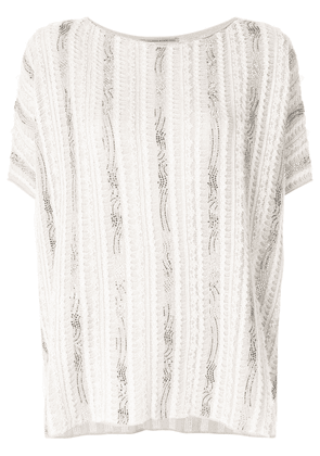 Ermanno Scervino oversized slouchy T-shirt - Neutrals