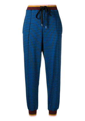 Marni high rise tapered trousers - Blue