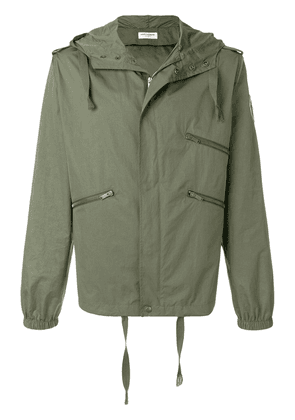 Saint Laurent zipped parka jacket - Green