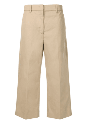 Prada high-waist cropped trousers - Neutrals