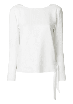 Polo Ralph Lauren long sleeved ribbon top - White