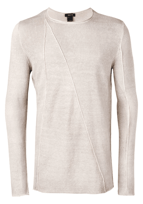 Avant Toi long-sleeve fitted sweater - Neutrals
