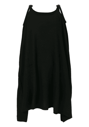 Cashmere In Love cashmere cape with bow ties - Black