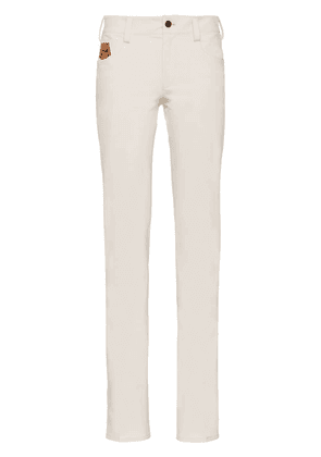 Prada stretch technical fabric trousers - White