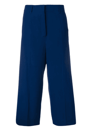 Prada high waist cropped trousers - Blue