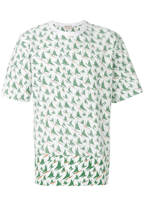 Marni windsurf print T-shirt - White
