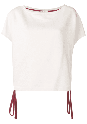 Marni short-sleeve drawstring sweatshirt - Neutrals