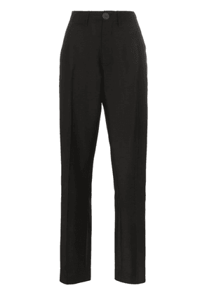 Loewe wool straight leg tailored trousers - Black