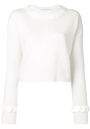 Marni sequin trim jumper - White