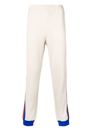 Gucci stripe trim track pants - Neutrals