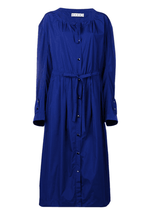 Marni drawstring parka coat - Blue