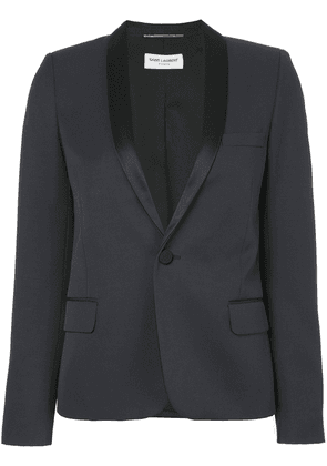 Saint Laurent Iconic Le Smoking cropped blazer - Blue