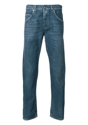 Gucci embroidered tapered jeans - Blue