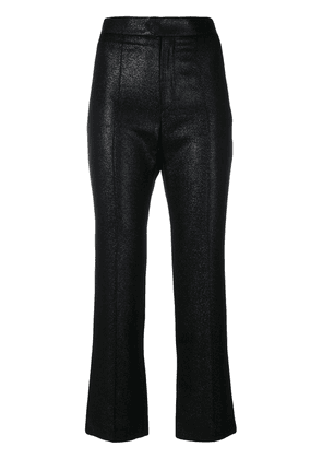 Isabel Marant high waisted cropped trousers - Black