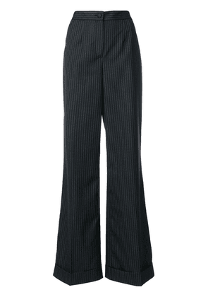 Dolce & Gabbana pinstriped flared trousers - Grey