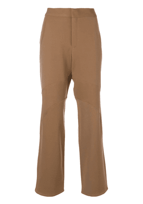 Marni panelled flared trousers - Neutrals