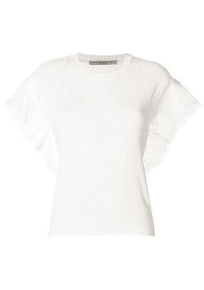 Ermanno Scervino lace trim tee - White