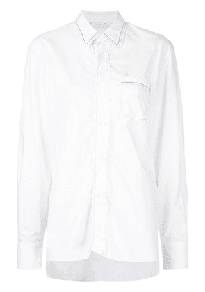 Marni waved placket shirt - White
