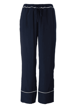 Marni piped straight leg trousers - Blue