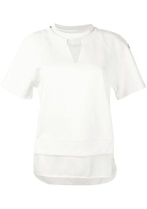 Moncler short sleeve layered top - White