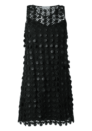 Carven embroidered lace dress - Black