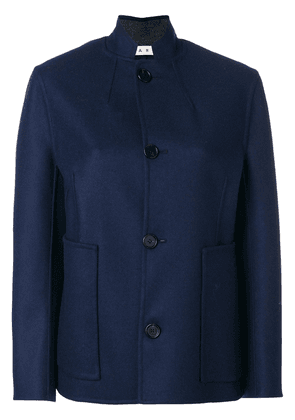 Marni mandarin collar jacket - Blue