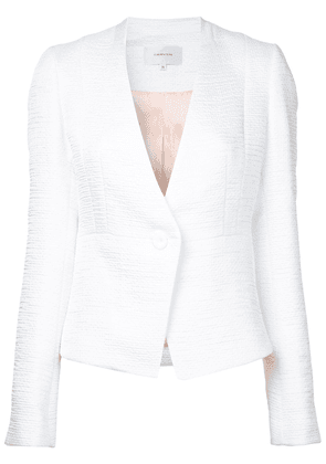 Carven textured fitted jacket - White