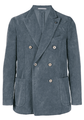 Gabriele Pasini corduroy double breasted blazer - Grey