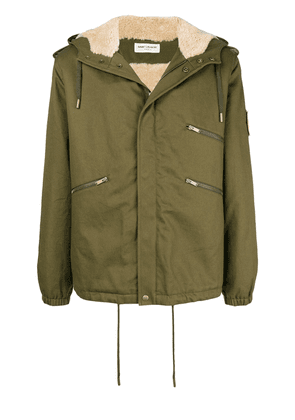 Saint Laurent gabardine windbreaker jacket - Green