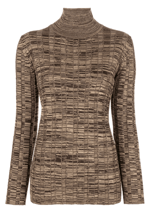Marni stretch turtleneck sweater - Brown
