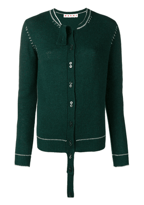 Marni extended placket cardigan - Green