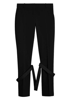Burberry Strap Detail Jersey Tailored Trousers - Black