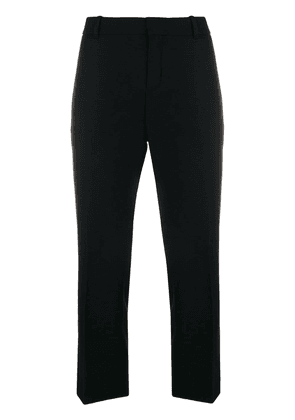 Saint Laurent cropped slim trousers - Black