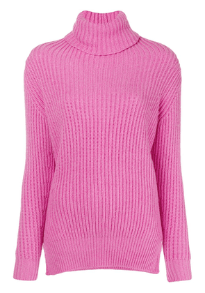 Avant Toi ribbed roll neck sweater - Pink