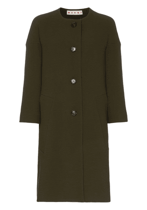 Marni cocoon single-breasted wool coat - Green