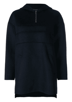 Carven zipped knit sweater - Blue