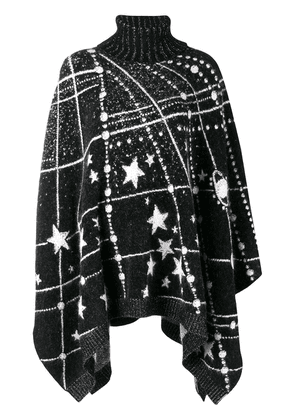 Saint Laurent Constellation knitted poncho - Black