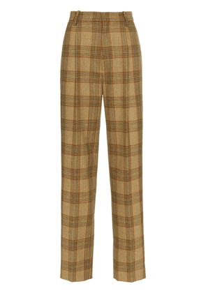 Gucci checked wool trousers - 2797 Brown