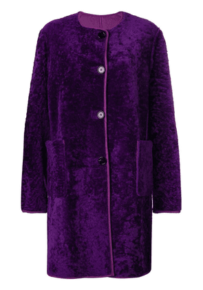 Marni reversible shearling coat - Purple