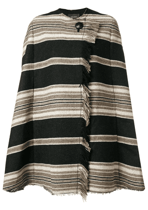 Isabel Marant Huany striped poncho - Black