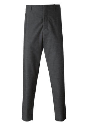Moncler tapered contrast trim trousers - Grey