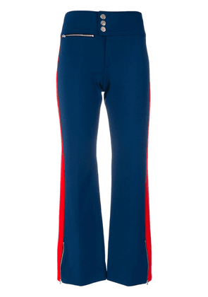Gucci side stripe flared trousers - Blue