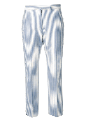 Thom Browne Bar Stripe Slim-Fit Trouser - Blue