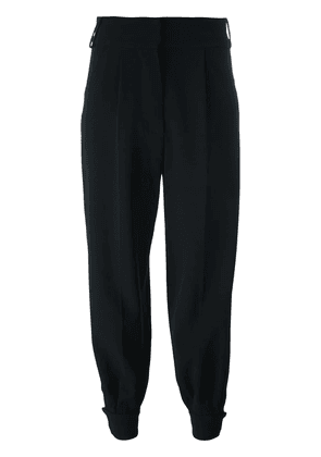 Marni tapered ankle cuff trousers - Black