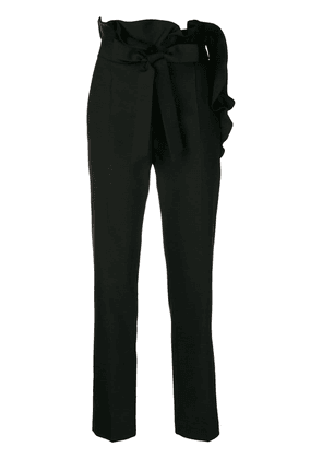 Valentino frill detail trousers - Black