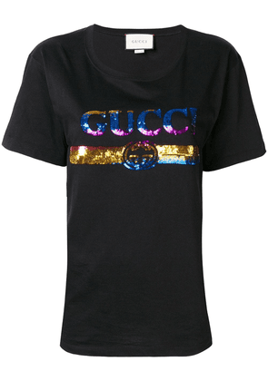 Gucci sequinned logo T-shirt - Black