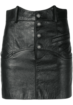 Saint Laurent high-waisted mini skirt - Black