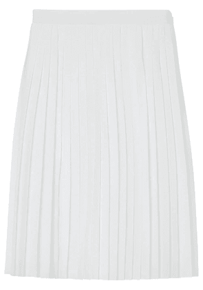 Burberry Silk-lined Pleated Skirt - White