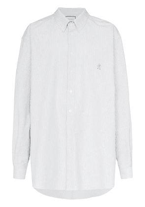 Gucci oversized long sleeve striped shirt - White